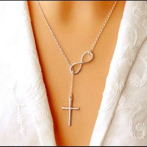 Jewelry - 🆕💗 Infinity Cross Silver color Necklace